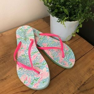 [Lilly Pulitzer] Lobster Watercolor Sandals - 9/10